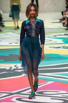 Burberry luxed-up the denim jacket for spring/summer 2015, and it has gone straight to the top of our wish lists.