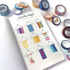 Are you a washi tape collector? Here are 20 different creative washi tape swatch layouts for you to use in your bullet journal! Bullet Journal Layout, Bullet Journal Ideas Pages, Bullet Journal Inspiration, Bullet Journals, Dark Beauty, Banners, Tape Art, Hanging Pictures, Tapas