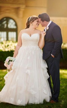 Wedding Dresses Lace Gowns 6765 Whimsical Plus Size Ballgown Wedding Dress with Horsehair Trim by Stella York.Wedding Dresses Lace Gowns 6765 Whimsical Plus Size Ballgown Wedding Dress with Horsehair Trim by Stella York Designer Wedding Gowns, 2015 Wedding Dresses, Wedding Dresses Plus Size, Princess Wedding Dresses, Wedding Gown Ballgown, Bridal Gowns, Tea Length Wedding Dress, Boho Wedding Dress, Mermaid Wedding