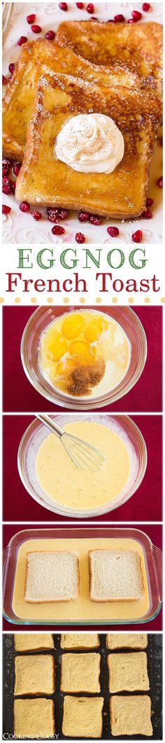Eggnog French Toast - Christmas Dessert Recipes