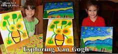 Mom to 2 Posh Lil Divas: Kids Get Arty - Exploring Vincent Van Gogh