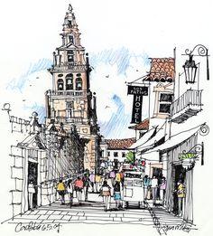 Image result for urban sketching