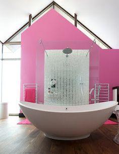 pink bathroom! Gorg!!
