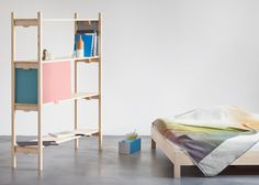 Bookbinder Shelf and bedroom furniture by Florian Hauswirth | design