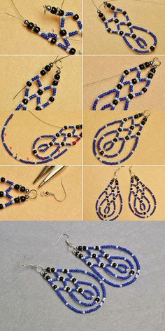 You will get the tutorial of this pair of blue seed beads earrings from LC.Pandahall.com soon.