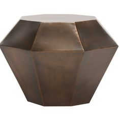 Inspired by Middle Eastern architecture, this End Table adds exotic character to contemporary interiors. Designed to appeal to worldly tastes, this evocative end table features diamond-sculpted angles for a be-jeweled finish.