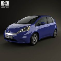 Honda Fit (Jazz) EV 2013 3d model from humster3d.com. Price: $75