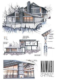 Professional architecture portfolio by Anique Azhar about Behance - Architecture Drawing Croquis Architecture, Architecture Design, Architecture Presentation Board, Architecture Board, Concept Architecture, Landscape Architecture, Presentation Boards, Architectural Presentation, Architecture Diagrams