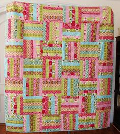 DONE - Sisters - Patty Young Mezzanine - love this color combo Quilting Projects, Quilting Designs, Sewing Projects, Sewing Ideas, Quilting Ideas, Quilting Patterns, Rail Fence Quilt, I Spy Quilt, Jelly Roll Quilt Patterns