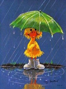 Raining..Order Suzy's cards for your little ones to send and they would be nice to get in the mail....Kids love mail.....