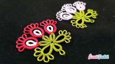Çok Beğenilen Yeni Mekik Oyası Modeli Yapılışı Needle Tatting, Crochet Earrings, Embroidery, Floral, Flowers, Jewelry, Needle Tatting Patterns, Jewelry Model, Needlepoint