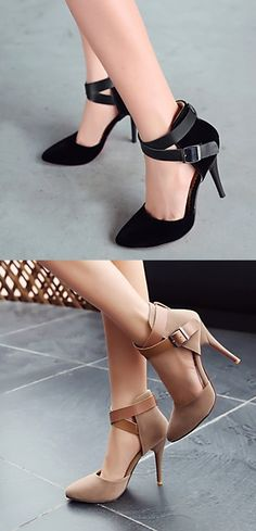 Rock your office outfit with this awesome heels! Repin if you like it too.