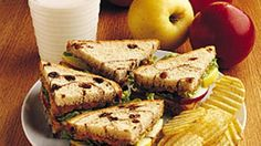 """""""Peanutty Apple Sandwiches"""" is a healthy and delicious food for kids. Remember to check with moms about allergies! In just a short time you can make these and save money on pizza. Snacks For Work, Lunch Snacks, Lunches, Good Food, Yummy Food, Tasty, Fun Food, Kids Meals, Easy Meals"""