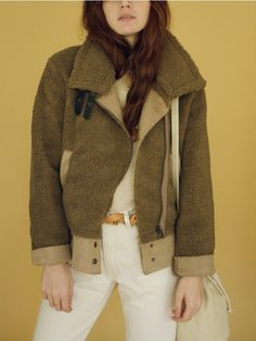 Sand Brown Sherpa Motorcycle Jacket | Dear Society