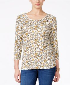 bfe7f331339 NWT 2XL 3 4 Sleeve Plus size Womens Floral Top Shirt Karen Scott With tag