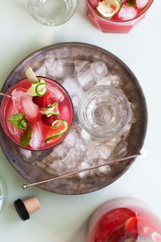 Raspberry Mint Limeade