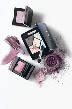 Lancome pastel Always Fuschia shadow across lids finished with hint of dark liner along lash line