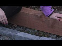 Brick edging for your flower beds – DIY real