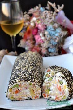 Rulada aperitiv de cascaval cu sunca Delish, Cooking, Party, Recipes, Food, Home, Kitchen, Recipies, Essen