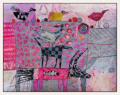 Elke Trittel acrylic, collage 50/65cm on paper