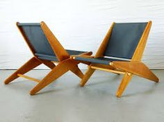 View This Item And Discover Similar Lounge Chairs For Sale At   These  Simple, Mid Century Modern Folding Chairs Are Made Of Heart Pine And Have  New Canvas ...