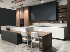 Modern Kitchen Interior Popular Contemporary Kitchen Design Ideas 28 - A contemporary kitchen design means different thing to different people. For some it is a clean bold look, for others […] Modern Kitchen Cabinets, Kitchen Layout, Rustic Kitchen, Kitchen Furniture, Kitchen Decor, Oak Cabinets, Kitchen Modern, Furniture Stores, Modern Farmhouse