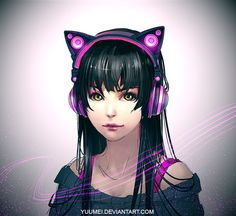 "Axent Wear by yuumei.deviantart.com on @deviantART ""Hey guys! As you might remember, many years ago I designed some cat eared headphones in which the cat ears work as functional speakers for sharing music with your friends. And of course the speakers can be turned off for private listening too. The designs received a lot of public support but I lacked the time and resources back then to turn them into a reality....."""
