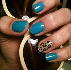 Leopard Accent Nail by buttabeens