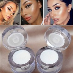 2 In 1 Eye Make Up Face Brighten Highlighter Shining Shimmer Powder Pigment White Blue Pink Eyeshadow Palette 5 Colors Excellent Quality Eye Shadow