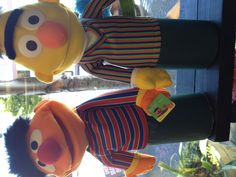 The Ernie & Bert puppets get together to have fun