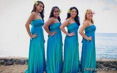 blue ombre bridesmaid dresses 2016-2017 » B2B Fashion