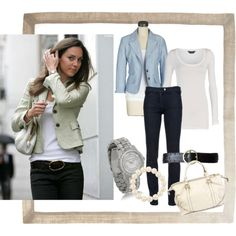 Love this casual style... Now if only i could find a blazer that fits.