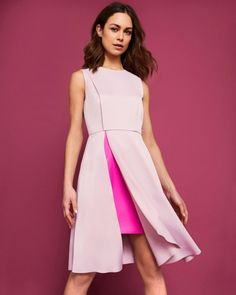 Fold detail dress - Pale Pink   Back To The Fuchsia   Ted Baker UK