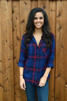 Plaid So Rad Blouse from Shop Southern Roots TX