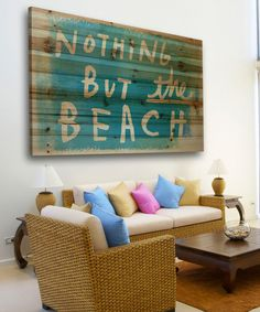 Love this Nothing But the Beach Wood Wall Art by Marmont Hill on #zulily! #zulilyfinds