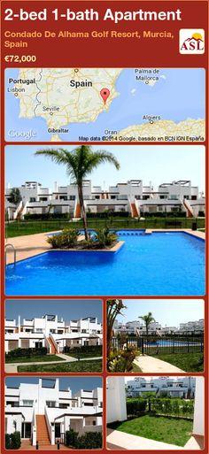 2-bed 1-bath Apartment in Condado De Alhama Golf Resort, Murcia, Spain ►€72,000 #PropertyForSaleInSpain