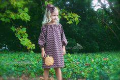:: cette adorable robe sera une garde-robe dautomne::    :: brown robe brun chevron a armature a-ligne avec manches longues & de décalage de