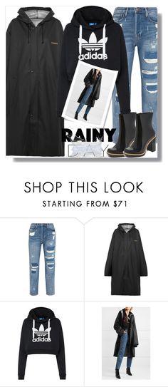"""RAINY DAY!"" by loewenangel ❤ liked on Polyvore featuring Frame, Vetements, adidas Originals, Melissa, rainyday, rainboots, raincoat and rainyweekend"