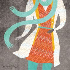 fall fashion illustration   Claire Mojher from delineation and illumination