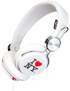 I Love New York Headphones in White White Headphones, Beats Headphones, Over Ear Headphones, I Love Ny, Original Gifts, Snug, York, Milton Glaser, Tourism