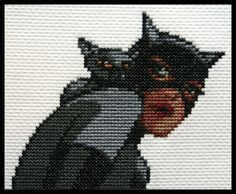 Catwoman and cross-stitch