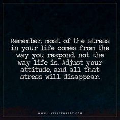 Remember, Most of the Stress in Your Life Comes from the Way You Respond