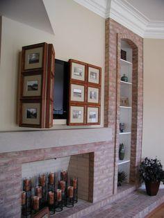 Ideas de decoración para esconder la televisión del salón (fotos) —…