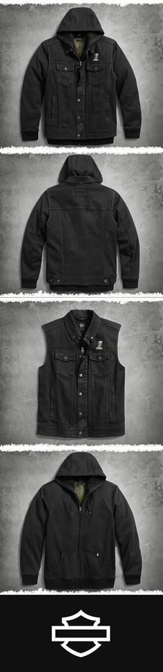 Denim Slim Fit Riding Vest No plan? No problem. The vest is on standby for any outing. Harley Davidson Kleidung, Harley Gear, Biker Wear, Bike Style, Riding Gear, Motorcycle Outfit, Super Bikes, Bike Design, Trends