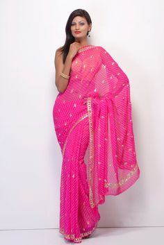 Amazing Bandhej Saree from Jaipur.  Find out details on www.sakinish.com