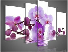 Purple flower, Price: $389.00, Shipping: Free Shipping, Size of Parts: 40cm x 60cm x 2 panels + 30cm x 80cm x 2 panels + 30cm x 100cm x 1 panel, Total Size (W x H): 170cm x 100cm, Delivery: 14 - 21 Days, Framing: Framed & Ready to Hang! 100% Money back guarantee. http://www.directartaustralia.com.au/