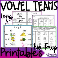 All long vowel spellings are included in this bundle! Just print and go. The bundle includes word work sorts, worksheets, anchor charts, I have Who has Card Game, and assessments. English Teaching Resources, Primary Resources, Teacher Resources, Common Core Reading Standards, Phonics Activities, Reading Activities, Cvce Words, Spelling Patterns, Cool Writing
