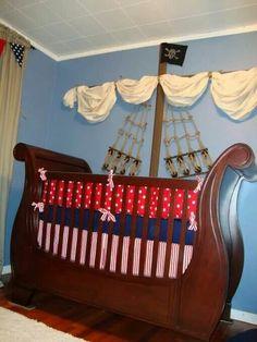 Peter pan pirate ship nursery crib