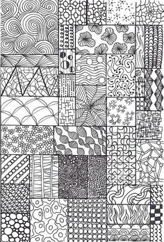 zentangle sampler Más