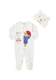 Clothing at Tesco | Paddington for Baby Sleepsuit with Hat > bodysuits > Character > All Brands